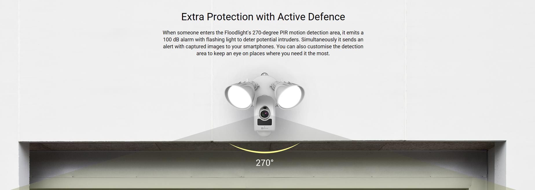 Ezviz Lc1 1080p Floodlight Camera With Built In Alarm System